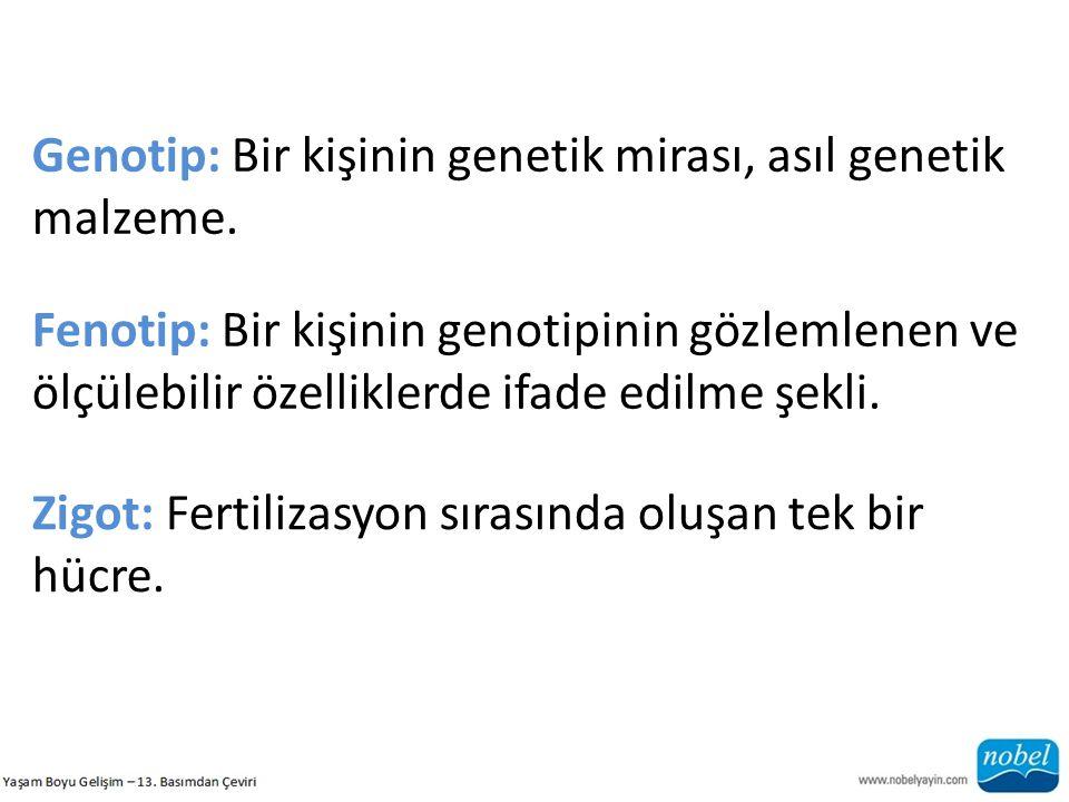 Genotip: Bir kişinin genetik mirası, asıl genetik malzeme.