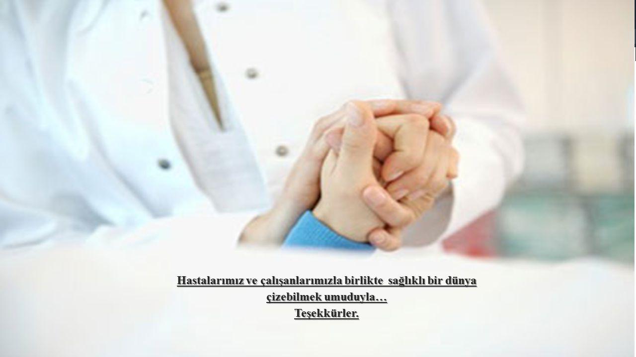 Hastalarımız ve çalışanlarımızla birlikte sağlıklı bir dünya çizebilmek umuduyla…