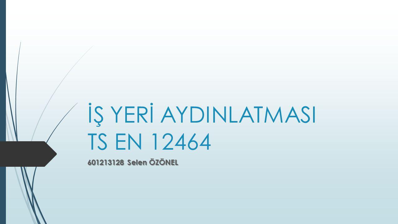 İŞ YERİ AYDINLATMASI TS EN 12464