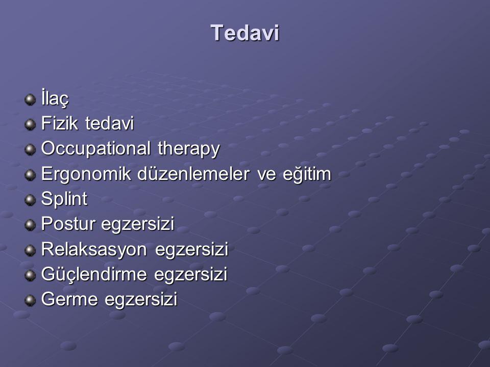 Tedavi İlaç Fizik tedavi Occupational therapy