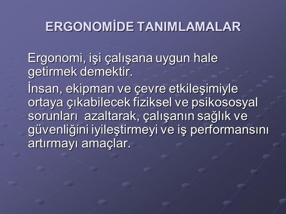 ERGONOMİDE TANIMLAMALAR