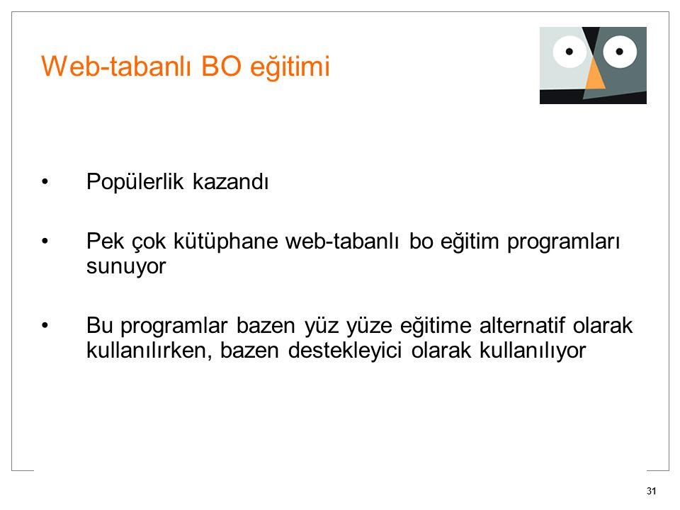 Web-tabanlı BO eğitimi