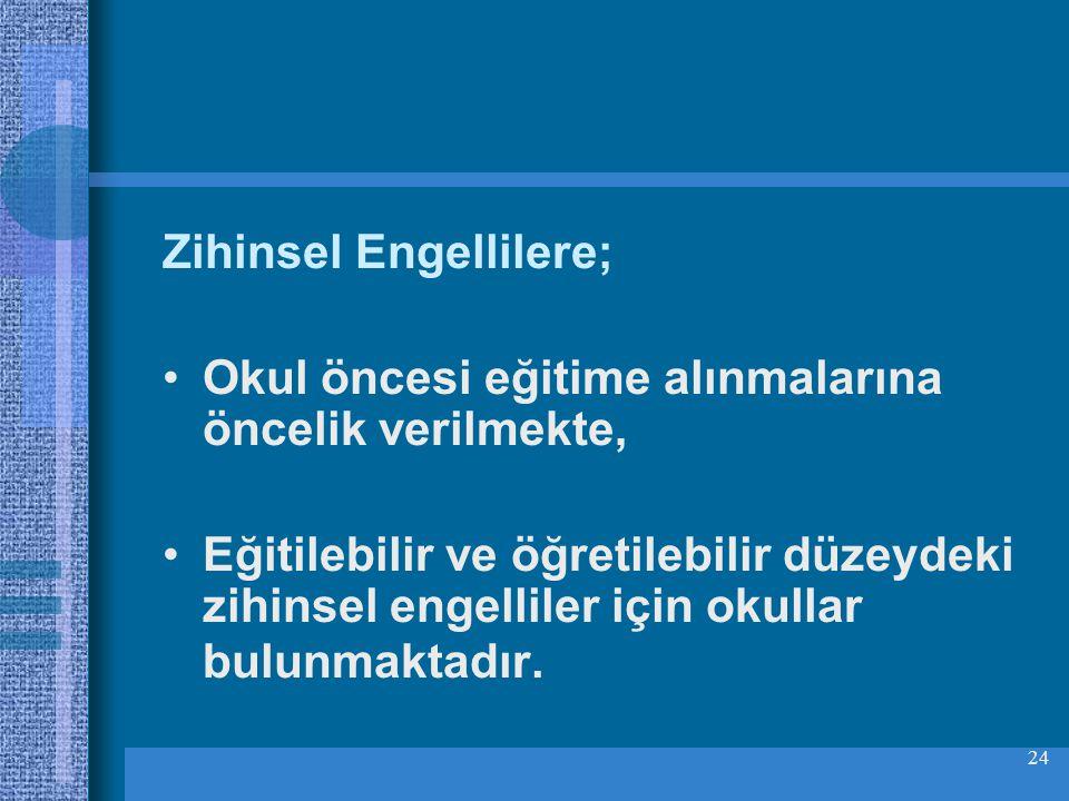 Zihinsel Engellilere;