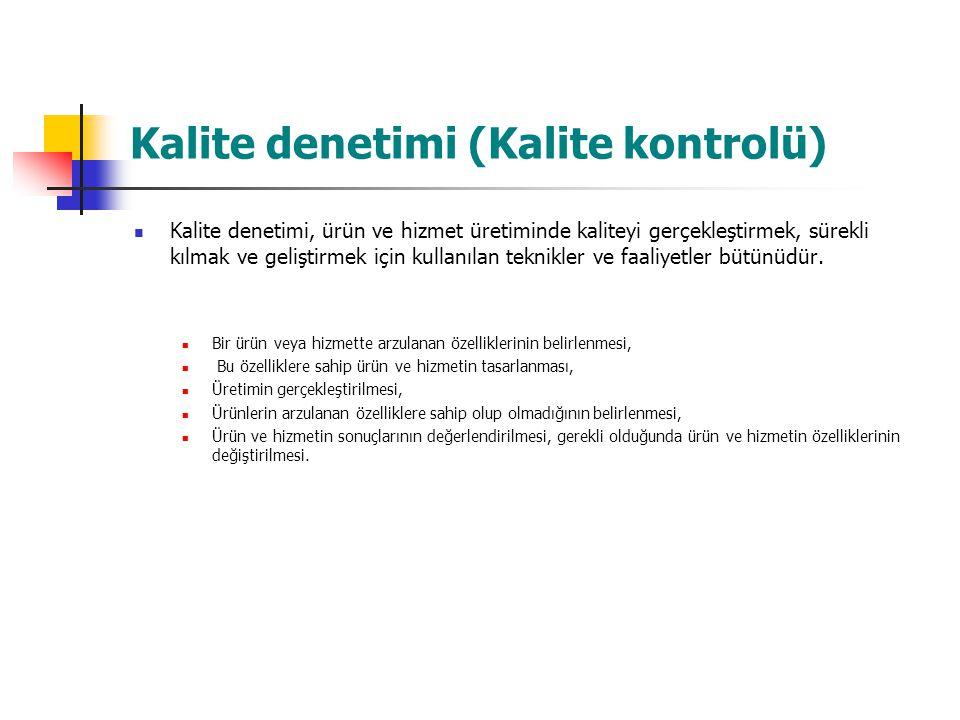 Kalite denetimi (Kalite kontrolü)
