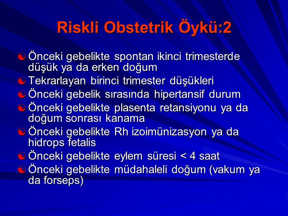 Riskli Obstetrik Öykü:2