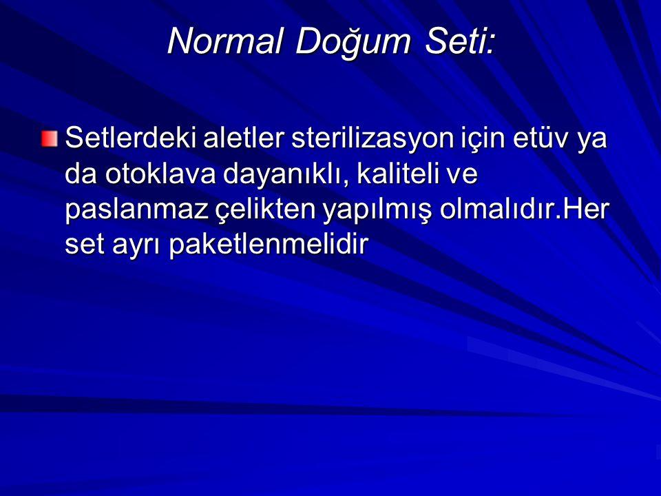 Normal Doğum Seti: