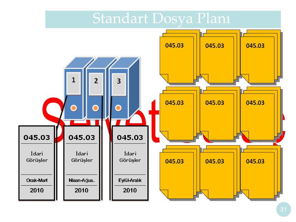 Standart Dosya Planı 31