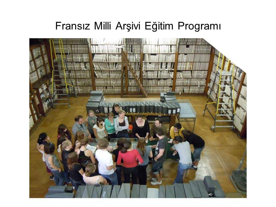 Fransız Milli Arşivi Eğitim Programı