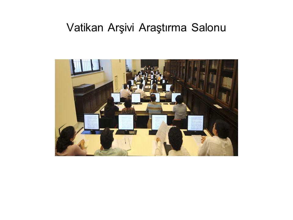 Vatikan Arşivi Araştırma Salonu
