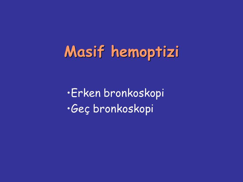 Erken bronkoskopi Geç bronkoskopi
