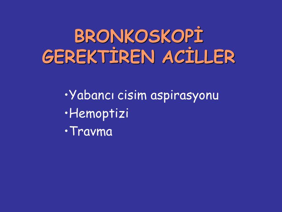 BRONKOSKOPİ GEREKTİREN ACİLLER