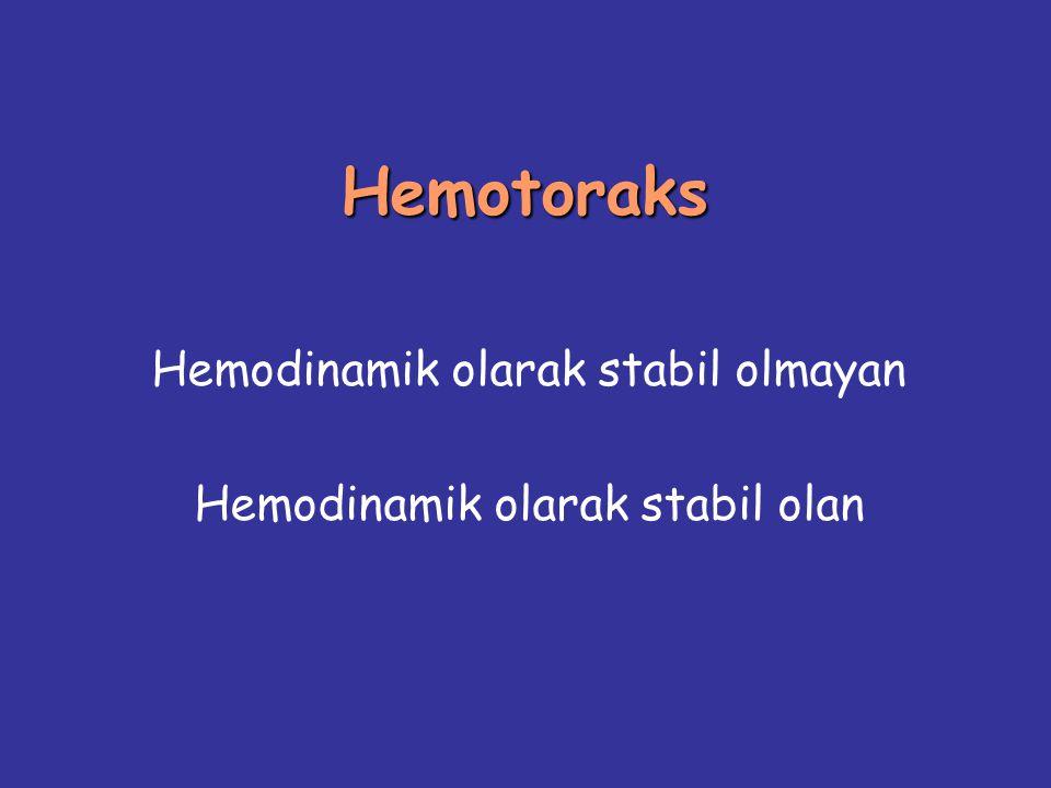 Hemodinamik olarak stabil olmayan Hemodinamik olarak stabil olan