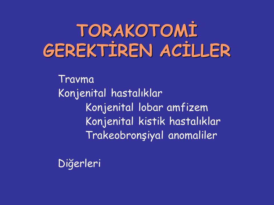 TORAKOTOMİ GEREKTİREN ACİLLER