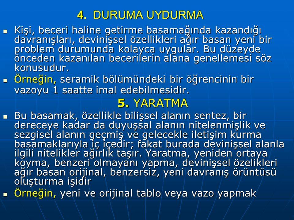 4. DURUMA UYDURMA