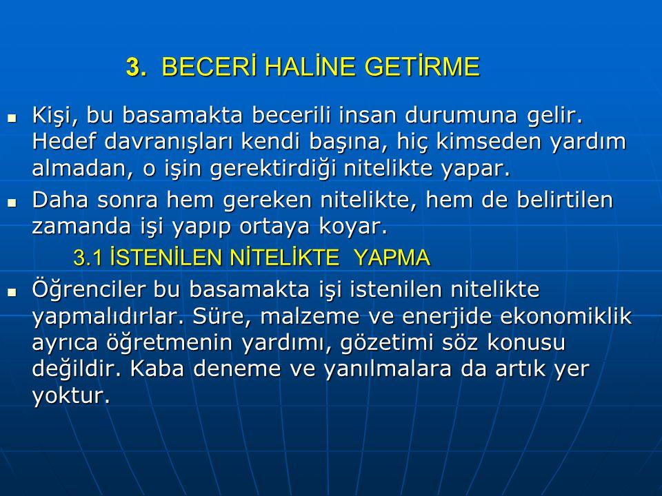 3. BECERİ HALİNE GETİRME