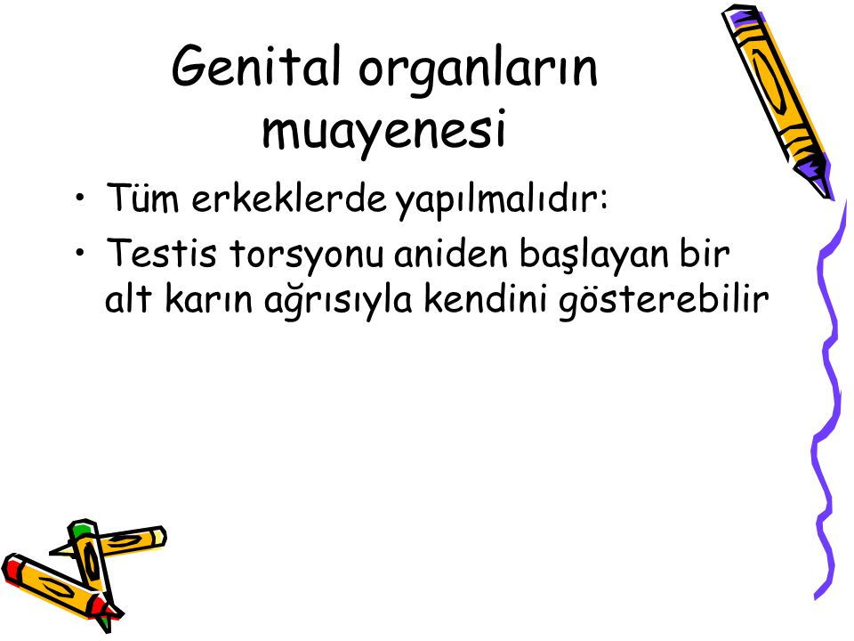Genital organların muayenesi