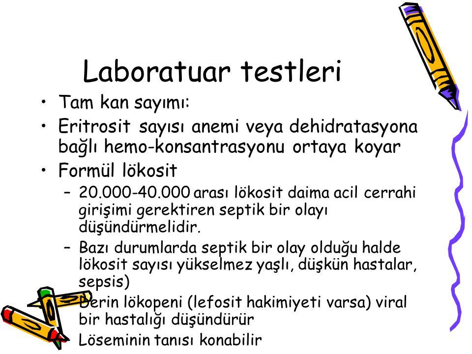 Laboratuar testleri Tam kan sayımı: