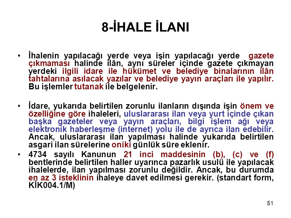 8-İHALE İLANI