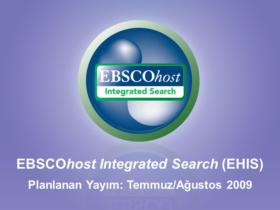 EBSCOhost Integrated Search (EHIS)