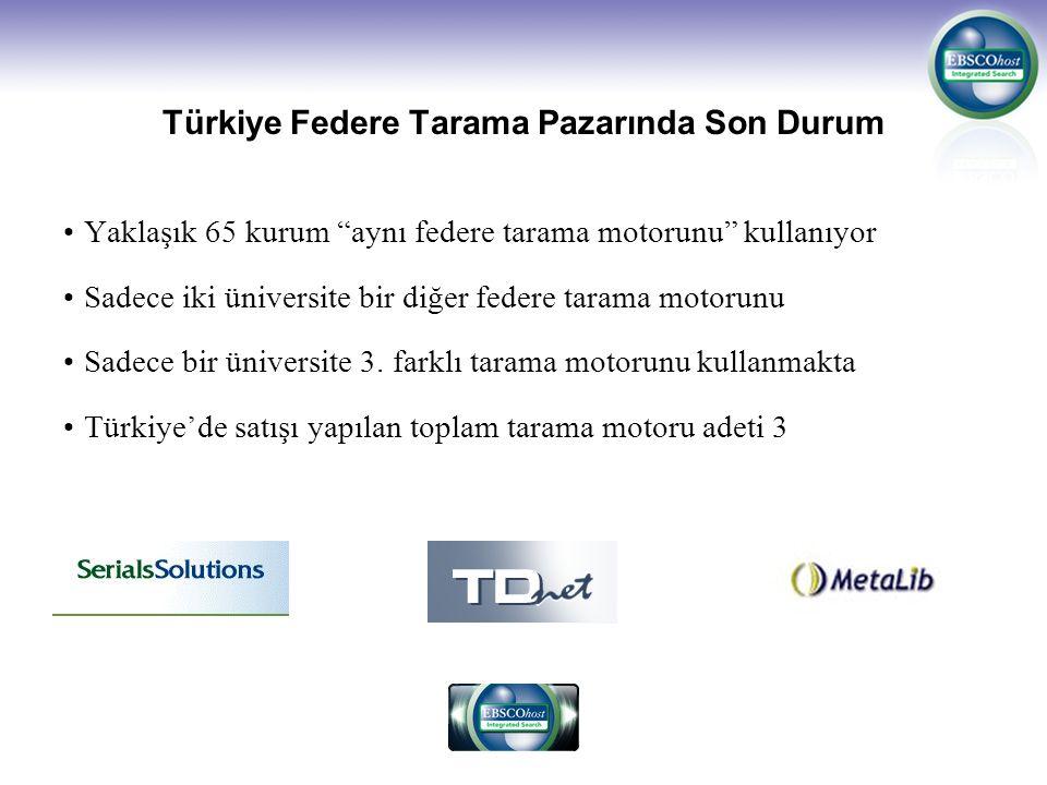Türkiye Federe Tarama Pazarında Son Durum