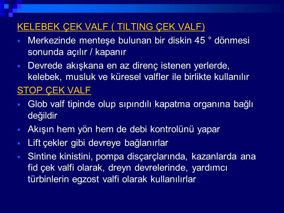 KELEBEK ÇEK VALF ( TILTING ÇEK VALF)