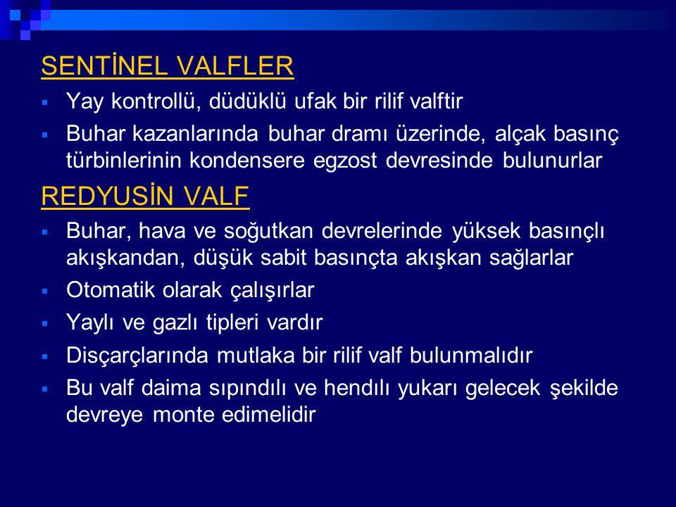 SENTİNEL VALFLER REDYUSİN VALF