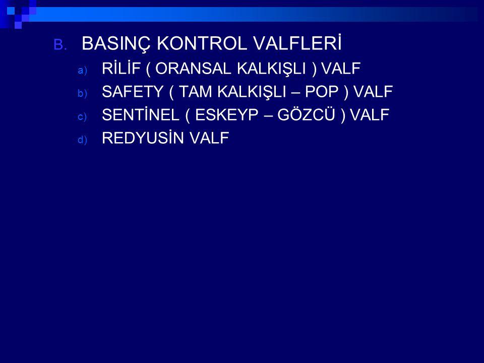 BASINÇ KONTROL VALFLERİ
