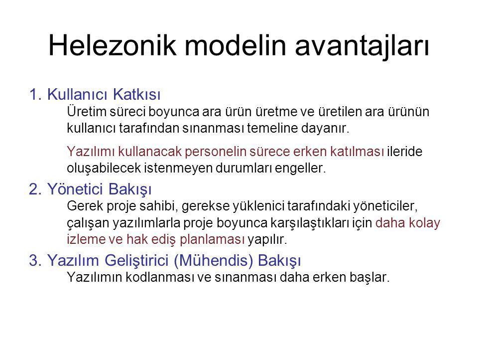 Helezonik modelin avantajları