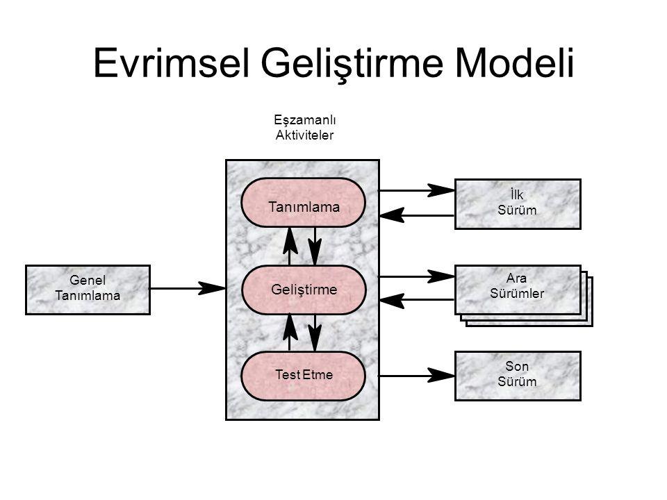 Evrimsel Geliştirme Modeli