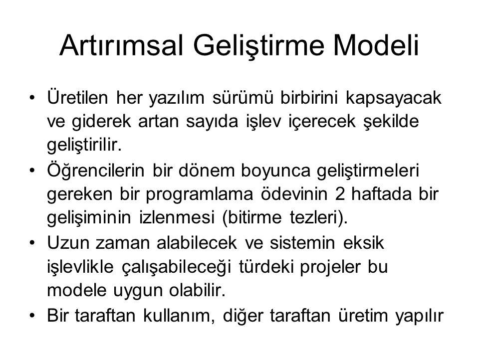 Artırımsal Geliştirme Modeli