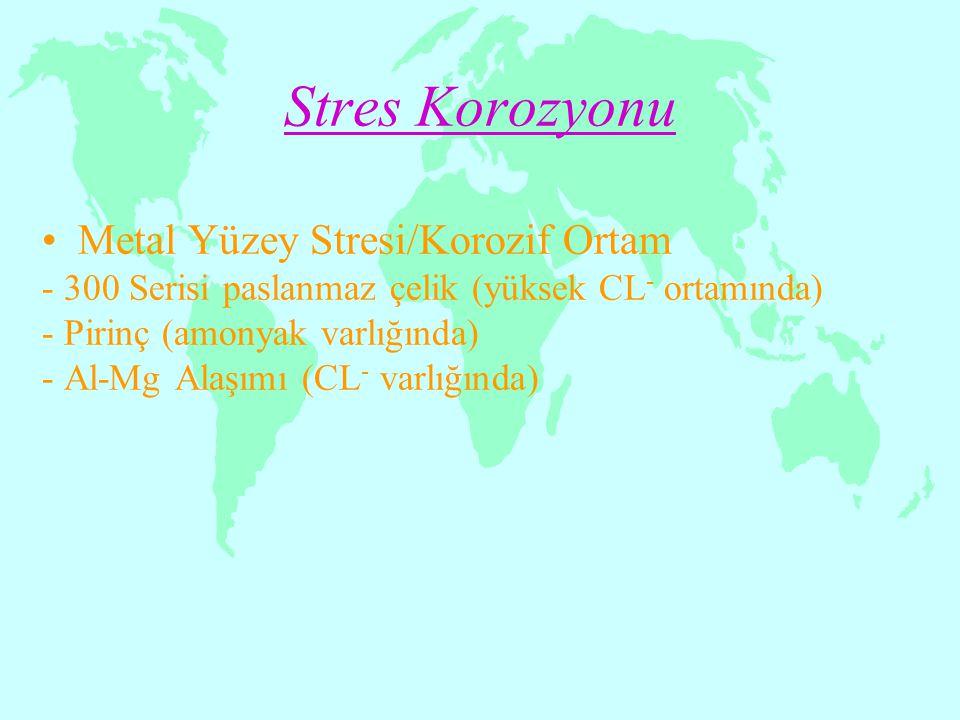 Stres Korozyonu Metal Yüzey Stresi/Korozif Ortam