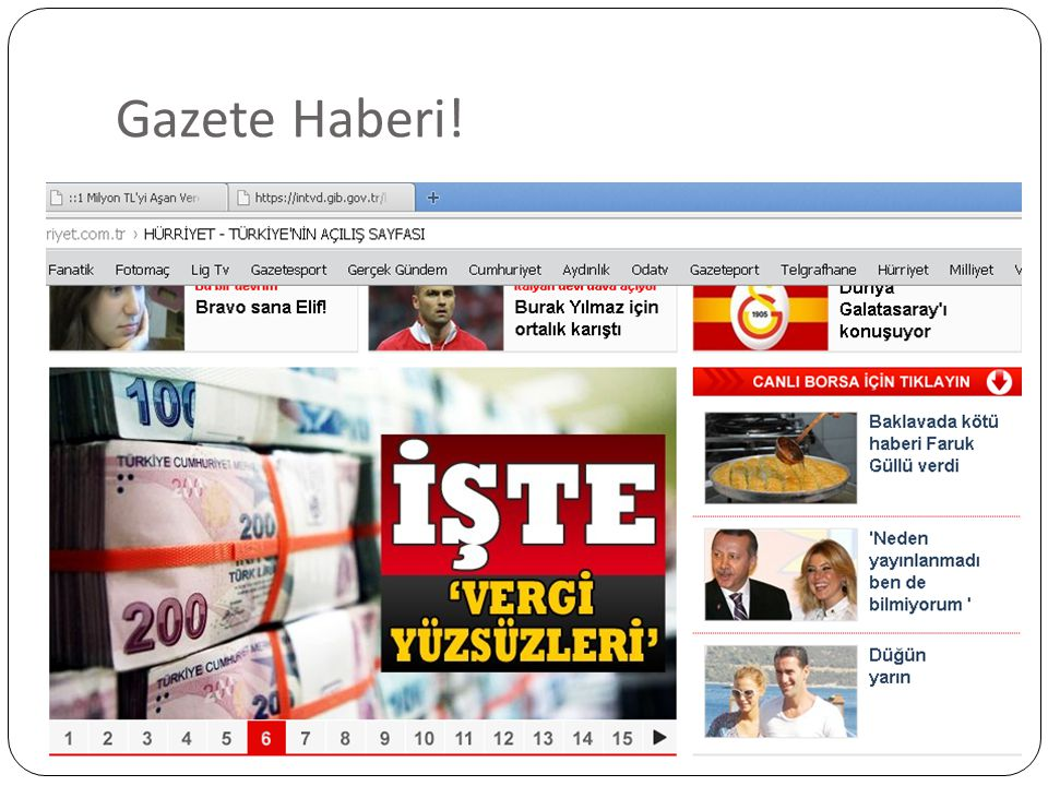 Gazete Haberi!