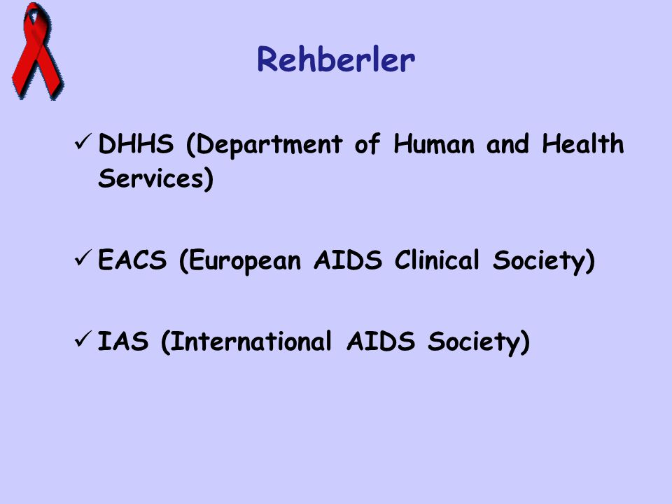Rehberler DHHS (Department of Human and Health Services)