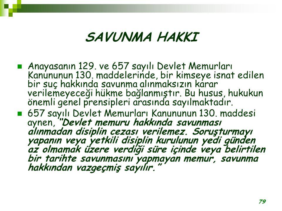 SAVUNMA HAKKI