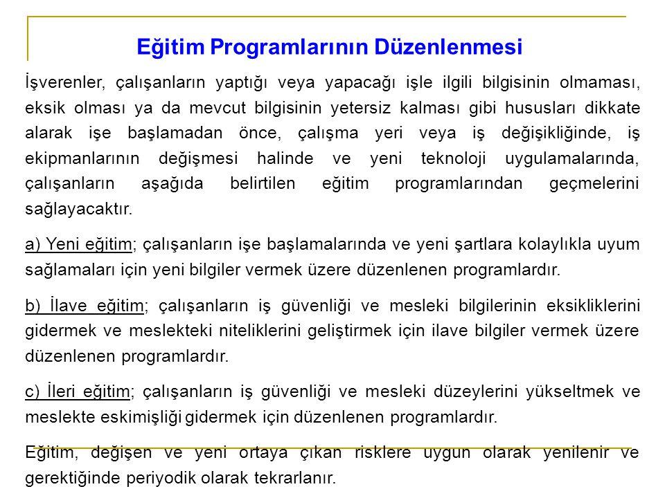 Eğitim Programlarının Düzenlenmesi