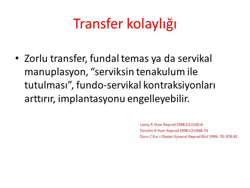Transfer kolaylığı