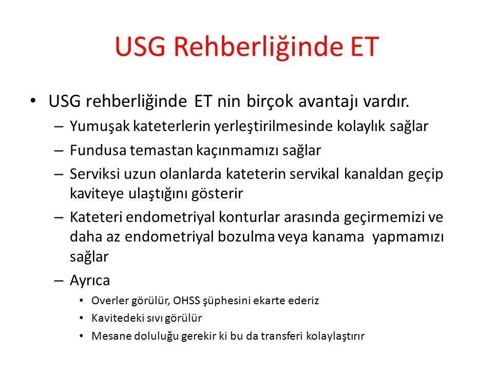 USG Rehberliğinde ET USG rehberliğinde ET nin birçok avantajı vardır.