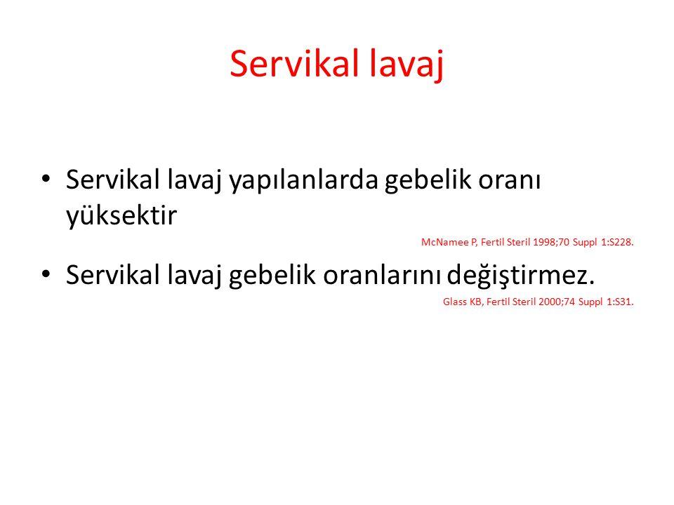 Servikal lavaj Servikal lavaj yapılanlarda gebelik oranı yüksektir