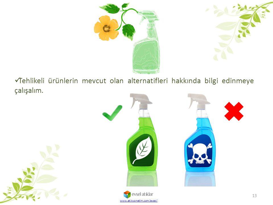 Tehlikeli ürünlerin mevcut olan alternatifleri hakkında bilgi edinmeye çalışalım.