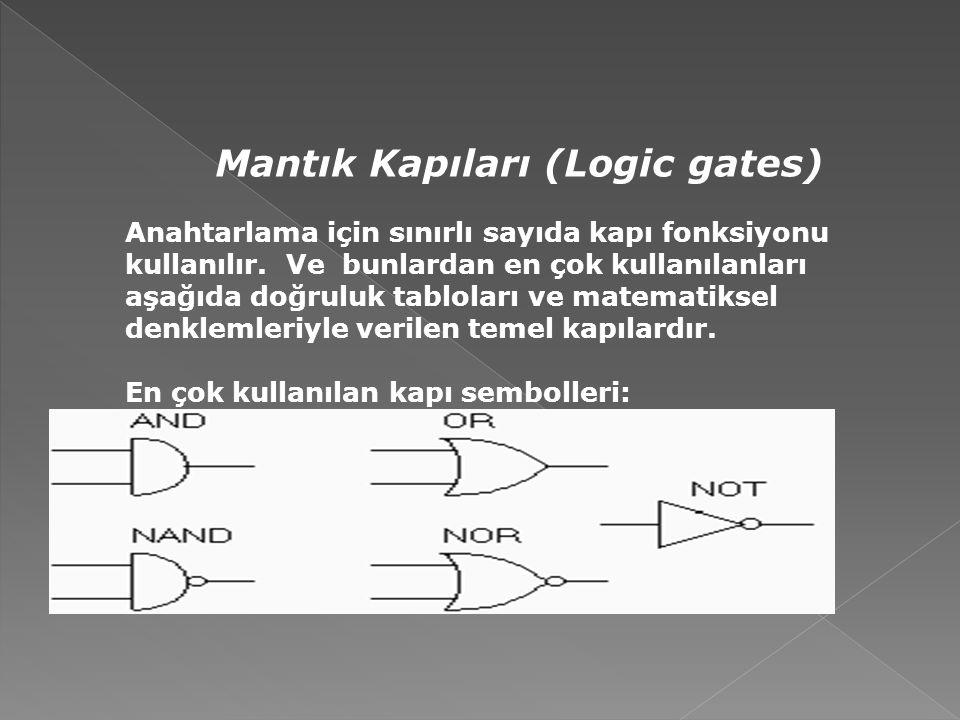 Mantık Kapıları (Logic gates)