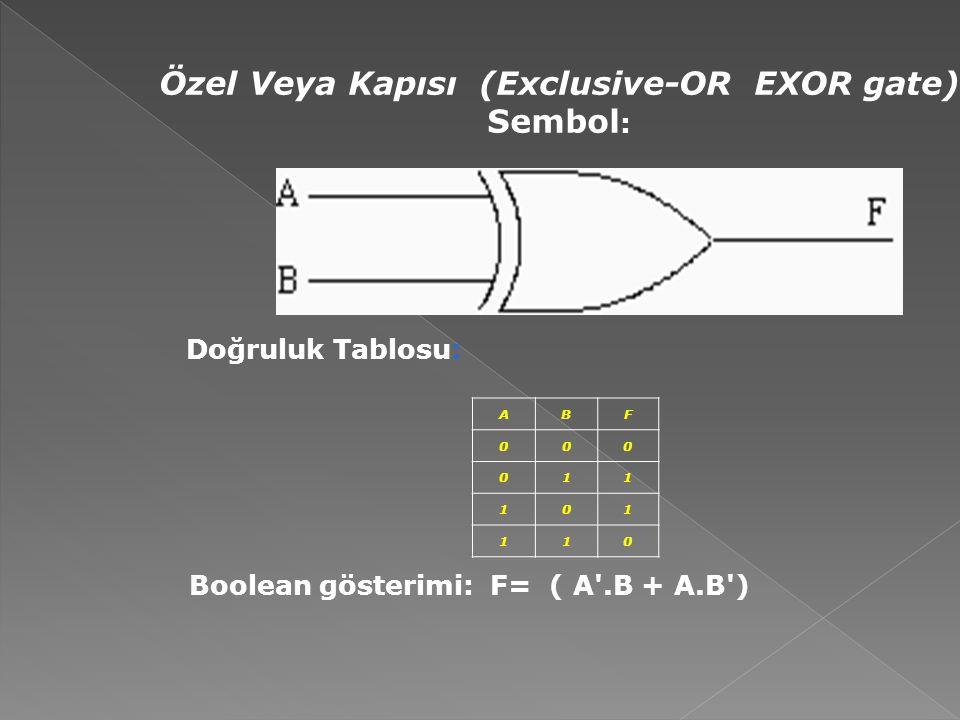 Özel Veya Kapısı (Exclusive-OR EXOR gate)
