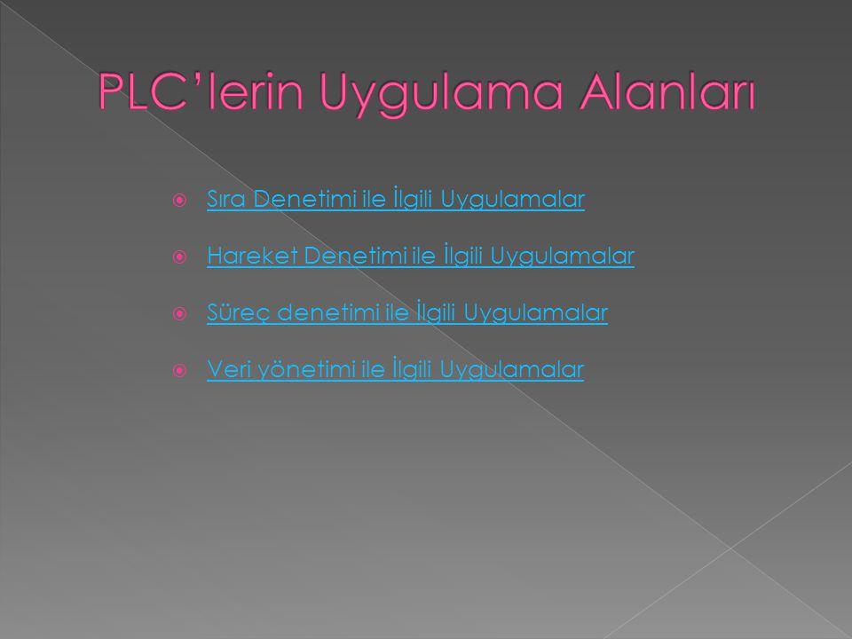 PLC'lerin Uygulama Alanları