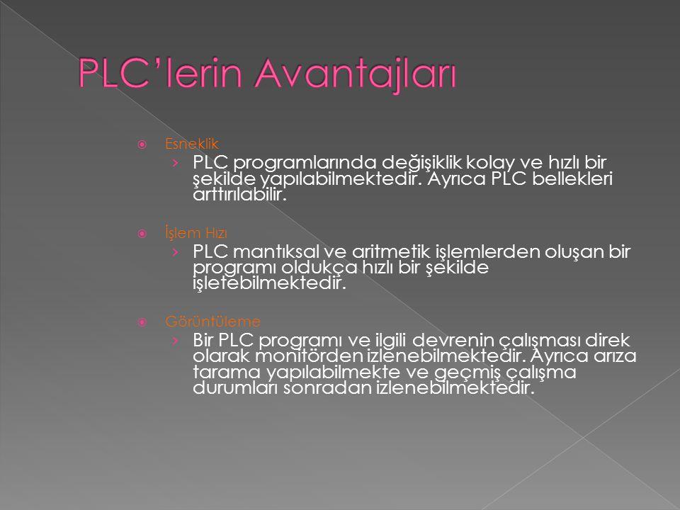 PLC'lerin Avantajları