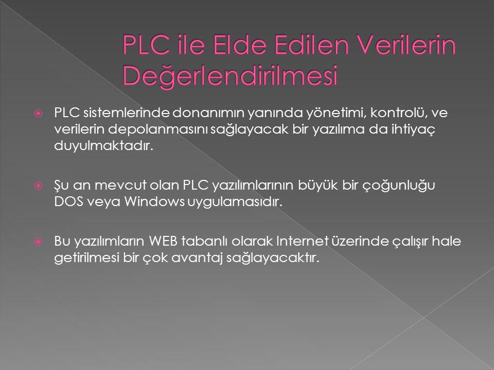 PLC ile Elde Edilen Verilerin Değerlendirilmesi