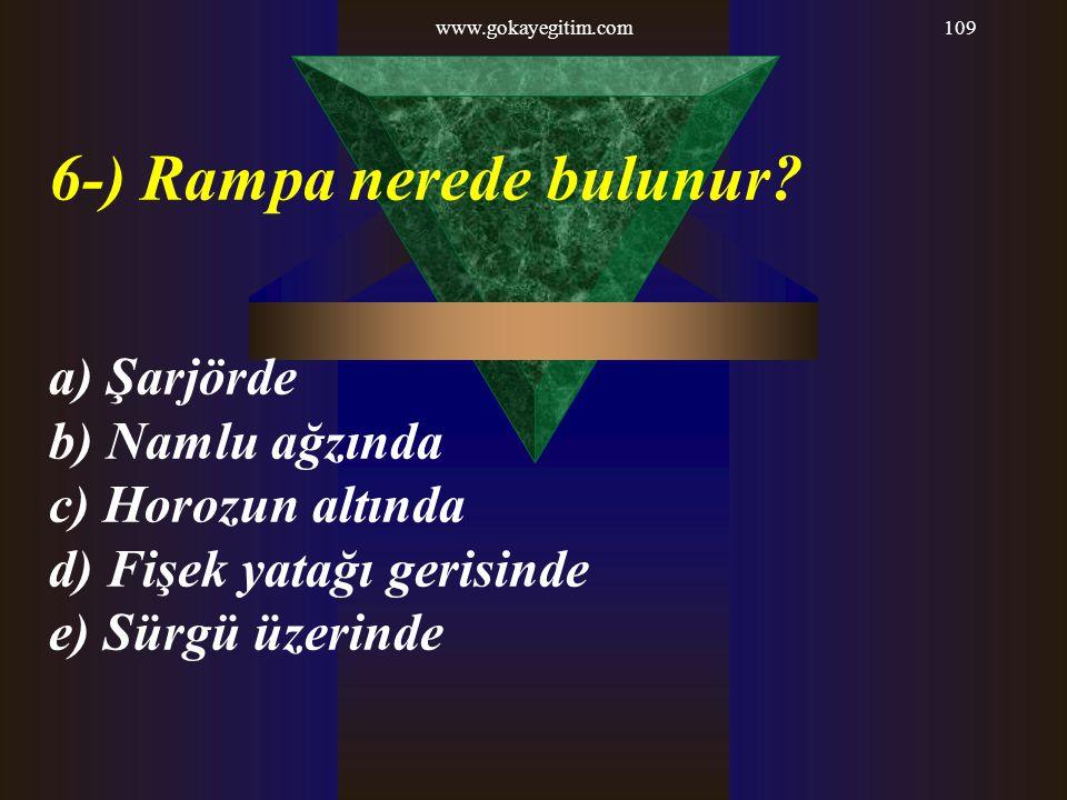 6-) Rampa nerede bulunur