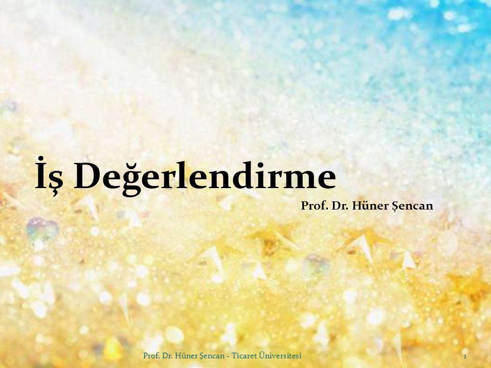 İş Değerlendirme Prof. Dr. Hüner Şencan MAGNETIC CONTACTORS