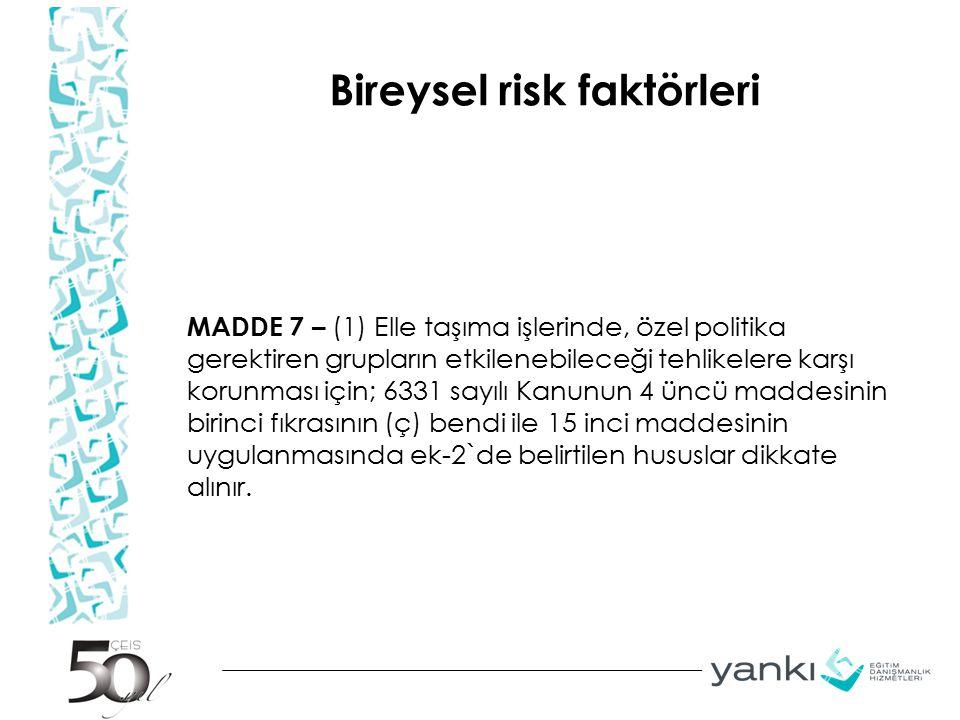 Bireysel risk faktörleri
