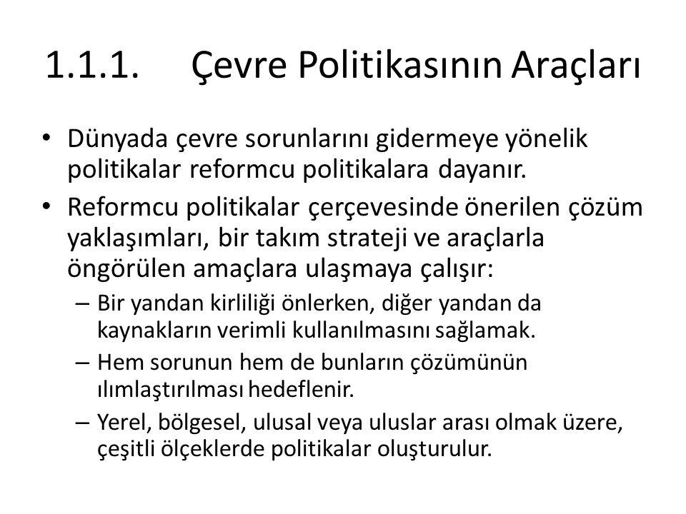1.1.1. Çevre Politikasının Araçları