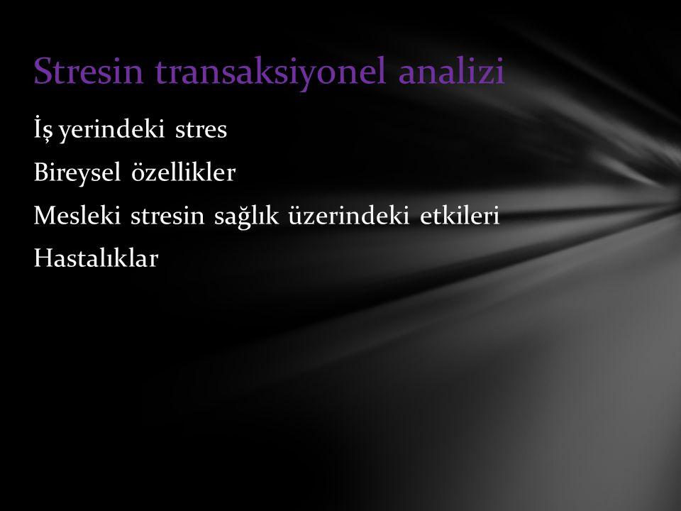 Stresin transaksiyonel analizi