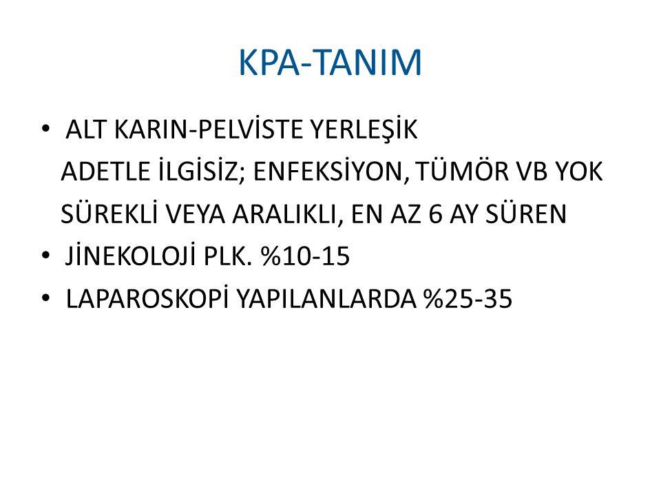 KPA-TANIM ALT KARIN-PELVİSTE YERLEŞİK
